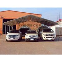 Steel Carports/Garages, made in China, pre-drilled and pre-cut