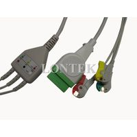 GE-Marqutte one piece 3 lead ECG/EKG cable