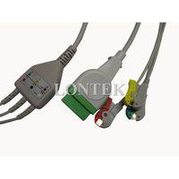 GE-Marqutte one piece 3 lead ECG/EKG cable