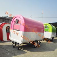 TELESCOPE fryer mobile food trailer bbq fast food cart flat grill mobile food truck thumbnail image