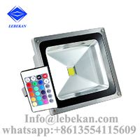 Color changing 30w 50w 100w 150w 200w waterproof reflector remote control outdoor led flood lights
