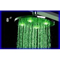 Brass LED Shower Head with Silicon Nozzles for Easy cleaning, Measuring 8 inch thumbnail image