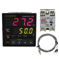 Inkbird PID Temperature Controller Omron Relay & SSR Voltage Output 100-240V DIN 1/16 ITC-100VH with