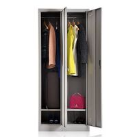 new style swing 2 doors steel folding wardrobe for home use