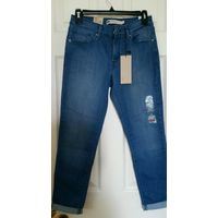 Mid Rise Cropped Stretch jeans