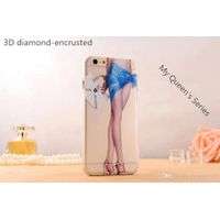 High Quality Luxury PC Cellphone Case for Iphone6 6plus 3D diamond-Encrusted Cellphone Case for Your thumbnail image