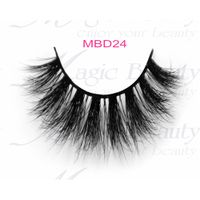 Black and Invisible Band are Available for Private Label 3D Mink Fur Lashes MBD24
