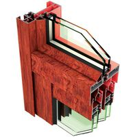 Wood Grain Transfer Thermal Insulation Aluminium Extrusion For Sliding Door (HY-2005)