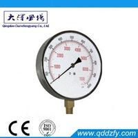 Black steel case common pressure meter