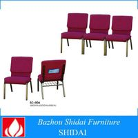 wholesale cheap used stacking chairs for church with powder coating