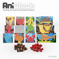 Educational toy, block & puzzle AniBlock First Collection Expansion Pack ver.1 for 4 Colors