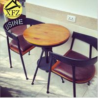 European-style dining table and chairs Solid wooden furniture Living room tables and chairs Cafe Din thumbnail image