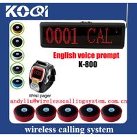 waiter wireless call system restaurant K-800+K-200C+D1
