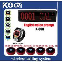 waiter wireless call system restaurant K-800+K-200C+D1