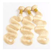 LEDON Hair Weft, Bodywave BW, 613#,100% Human Hair, Non-Remy Hair Extensions thumbnail image