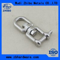 stainless steel swivel Key Pin Shackle With Bar