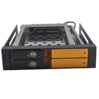 "2.5 "" Dual bay UNESTECH SATA Aluminum case internal hdd caddy"