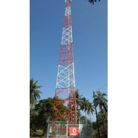 50meters selfsupporting lattice communication tower
