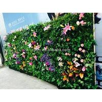 Customized artificial green gypsum walls plastic artificial wall plants outdoor artificial green wal
