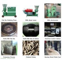 biomass waster flat die pellet mill