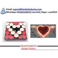 4 Hours Smokeless Aromatherapy White/Red Candle Tealight thumbnail image
