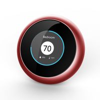 Micronature Deep Learning A.I. Enhanced Thermostat, Gold, Works with Amazon Alexa