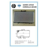 hot sale high quality aluminum car radiator for coralla AE100