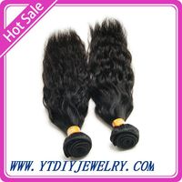 Indian virgin hair natural wave  100% human hair extension can be dyed