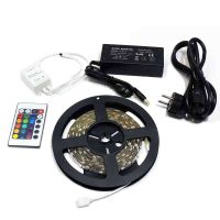 5M NonWaterproof SMD 5050 RGB Flexible Decoration strip 300 LEDs Kit with 24 key Remote Controll