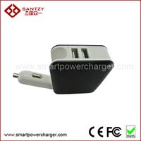 Dual usb car charger with adapter plug