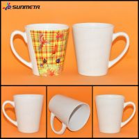 12oz Conical Ceramic White Sublimation Mug At Low Price Wholesale