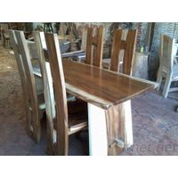 Dining Set Table with Chair H Motif