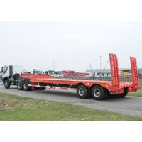 Customized 60-100 tons 4 axles gooseneck lowboy transport low bed trailer with quality assurance thumbnail image
