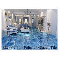 S8C009 Ocean Sky Blue Grainte Design Glazed Porcelain Tile