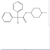 1-Methylpiperidin-4-yl 2-chloro-2,2-diphenylacetate hy drochloride CAS 54556-99-9