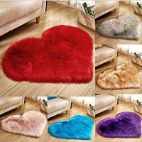 Wool Imitation Sheepskin Rugs Faux Fur Non Slip Bedroom Shaggy Carpet Living Room Mats tappeto cucin thumbnail image