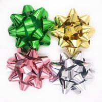 Giant metallic decorative star bows 80 inch and 10 inch