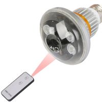 Wireless Bulb DVR Camera with LED Light and Remote Control