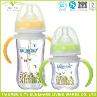 Anti-breaking Higher Heat Resistance Titanium Glass Baby Feeding Bottles