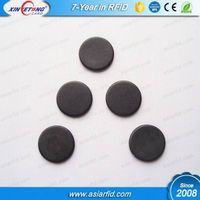 Diameter 20mm 13.56MHz 14443A Fudan FM11RF08 NFC Button Laundry Tag, Washable Coin Laundry Tag