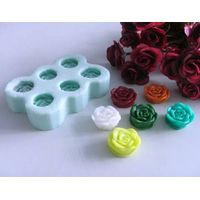 R0404 Resin rose  flower silicone soap mold/handmade silicone rose soap mould thumbnail image