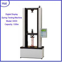 WDS-100 100kn Spring tension and compression testing machine+electronic compression testing machine