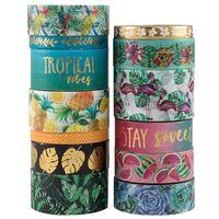 Writing printed custom japanese paper gift box decoration tropical breeze washi tape thumbnail image
