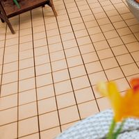 30x30cm non slip roofing glazed white ceramic interlocking flooring tile design in cheap price by Ch