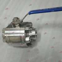 Stainless Steel Industrial Manual 3PC High Pressure Flange Ball Valve