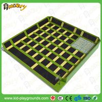 square combo trampoline for indoor thumbnail image