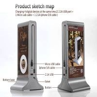 Fashionable coffee power bank 20800mah double-sides advertising for Cafe shop