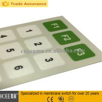 high quality silk printing membrane tactile switch keypad