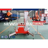 10m Single Aluminum Mast Lift Man Aerial Working Platform / Aerial Lift Safety