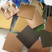 PVD Coated Coloured Stainless Steel Sheet Plate For Metal Decor